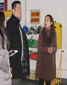 2017年1月06日客户来访上海红安洗眼器厂