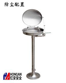 不锈钢翻盖防尘型立式洗眼器_90906651